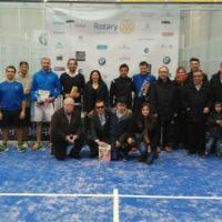 Javier Cabrero y Juanjo Agón repiten como campeones en el II Torneo Solidario de Pádel del Rotary Club de Huesca