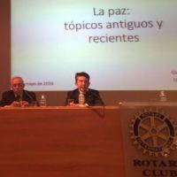 EL ROTARY CLUB DE HUESCA CELEBRA SU 30 ANIVERSARIO CON UNA CONFERENCIA SOBRE LA PAZ